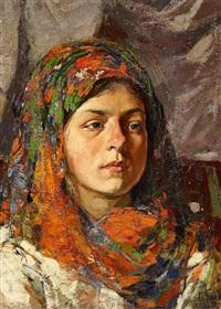 portät eines jungen mädchens by mikhail markelovich guzhavin