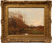 autumn landscape by william merritt post
