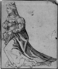 kniende dame by nicolas hogenberg