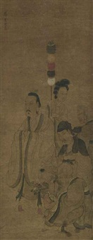 figures after chen hongshou by jiang lian