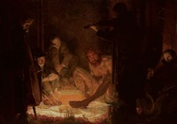 nocturnal forest feast with rubezahl and musicians by herbert arnold