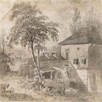 die alte wassermühle by paulus constantijn la (la fargue) fargue