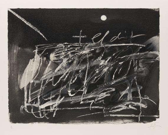 le doigt et la lune by antoni tàpies