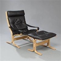 siesta easy chair with foot stool by ingmar anton relling