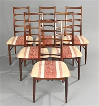 lis chairs (set of 6) by niels koefoed