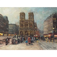 paris street scene by robert lebron