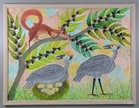 oiseaux et écureuil by mulongoy pili pili