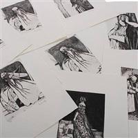 victorianske raderinger (portfolio of 8 w/title pg.) by hans henrik lerfeldt