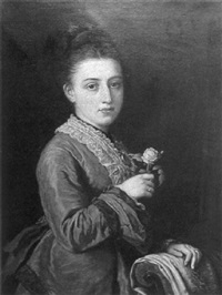 portrait of maria holding a rose by norman macbeth