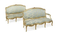 canapes (pair) by jean mocque