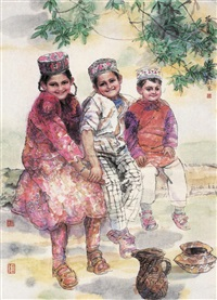 塔吉克花朵 (tajik children) by ren jimin