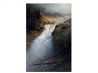 paisaje con catarata by dionisio fierros