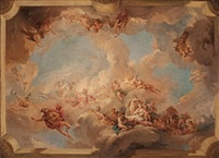 the triumph of venus (bozzetto for a ceiling) by francois le moyne