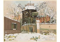 from utrillo, gouache, pl.1 by maurice utrillo