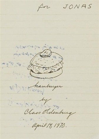 hamburger by claes oldenburg