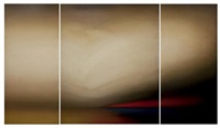 on the beach (triptych) by jeff muhs