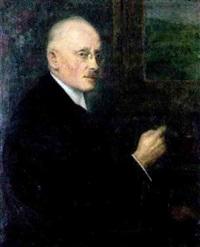 portrait des frankfurter apothekers ernst loy mit zigarre by wilhelm runze