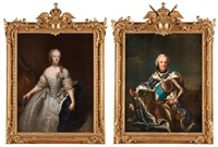 king adolf fredrik (1710-1771) & queen lovisa ulrika (1720-1782) (2 works) by antoine pesne