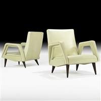 open frame lounge chairs (pair) by raphaël