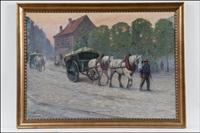 hevoskärryjä kaupungissa by alexander langlet