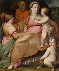 die mystische vermählung der heiligen katharina von alexandrien mit dem johannesknaben und dem heiligen joseph by orazio samacchini