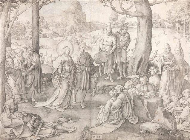 der tanz der hl maria magdalena by lucas van leyden