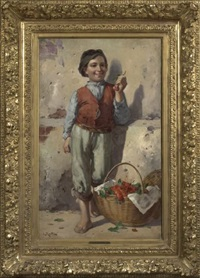 the cherry seller by adolf raufer