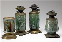 oil lamp base (4 works) by chelsea keramic artworks