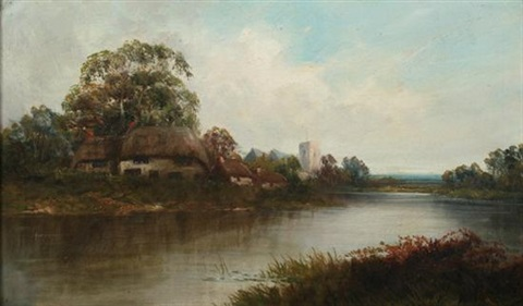 on the roding essex by w richards