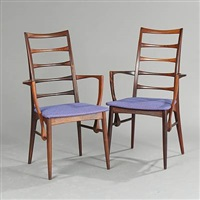 lis armchairs (pair) by niels koefoed