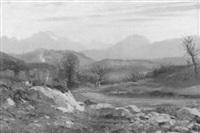 alter steinbruch in hügeliger landschaft by jean marie reignier