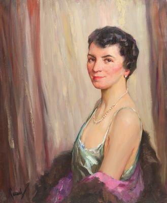 porträt einer dame by edward cucuel