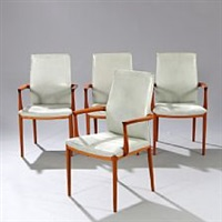armchairs (set of 4) by helge vestergaard jensen