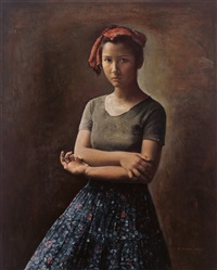 女孩肖像 (portrait of a girl) by guo runwen