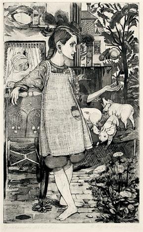 spielendes mädchen by bernhard kretzschmar