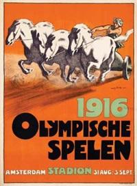 olympische spelen amsterdam stadion by willy sluijter