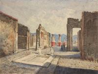 veduta di pompei by ettore forti
