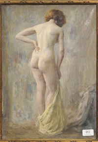 female nude in a sunlit interior by emile joseph jules simon