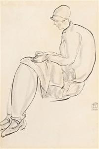 常玉(1900-1966) 1920年代末 摩登仕女 modern lady by sanyu