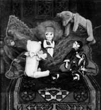 stilleben mit puppen und stofftieren by a. von overbeck