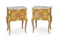 petite commodes (pair) by jean mocque