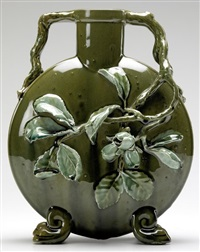 pilgrim flask (carved by hugh robertson) by chelsea keramic artworks