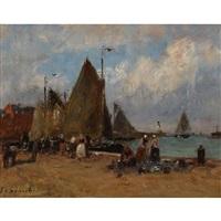 tréport by gustave edouard le senechal de kerdreoret