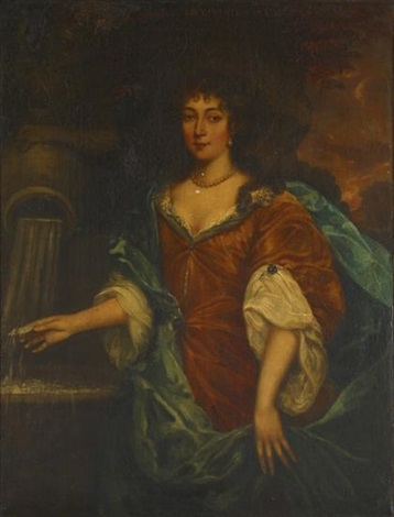 lucie countess of carlisle at a fountain by sir peter lely