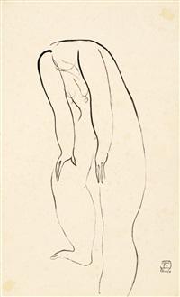 常玉(1900-1966) 1920年代末 裸女 nude by sanyu