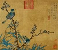 梅竹双雀图 by xu fu