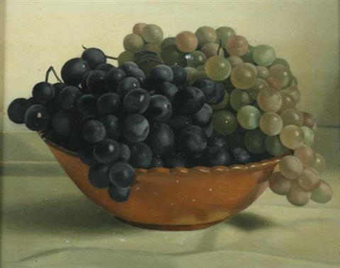bowl of grapes by jacques blanchard