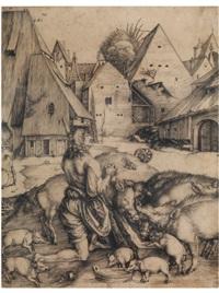 der verlorene sohn bei den schweinen by albrecht dürer