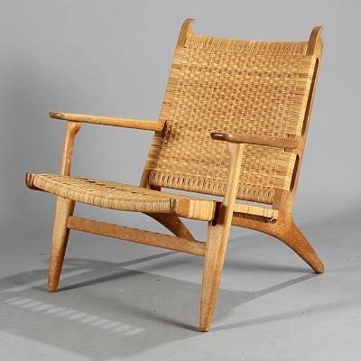 easy chair ch 27 by hans j wegner on artnet. Black Bedroom Furniture Sets. Home Design Ideas