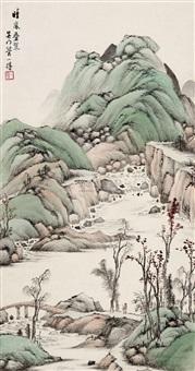 晴岚叠翠 (landscape) by guan yide